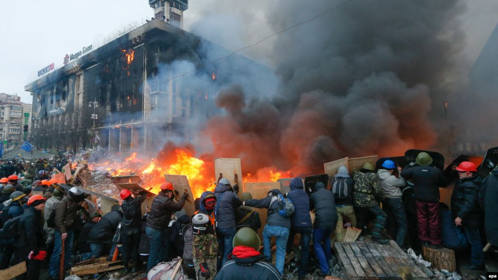A 2013 scene in Maidan in Kiev